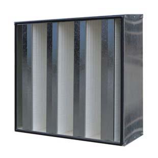 锌框W型V型组合式高效guo滤器